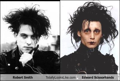 Robert Smith Totally Looks Like Edward Scissorhands