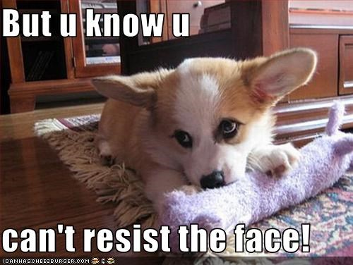 But u know u  can't resist the face!