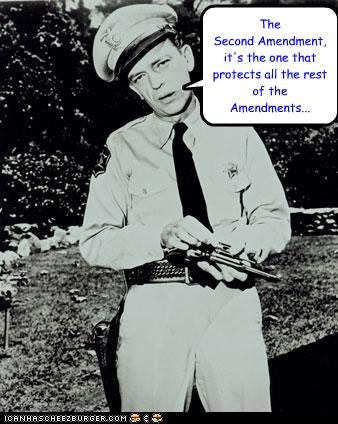 The  Second Amendment, it's the one that protects all the rest of the Amendments...
