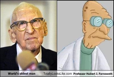 World's oldest man Totally Looks Like Professor Hubert J. Farnswoth