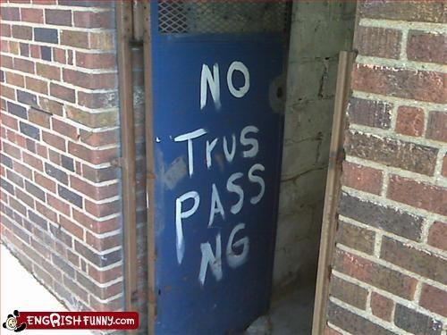 door,g rated,no trespassing,signs