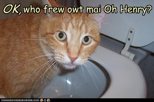 OK,  who frew owt mai Oh Henry?