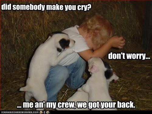 did somebody make you cry?