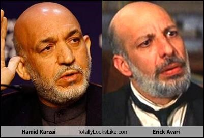 Hamid Karzai Totally Looks Like Erick Avari