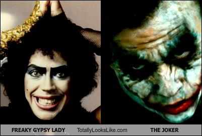 FREAKY GYPSY LADY Totally Looks Like THE JOKER