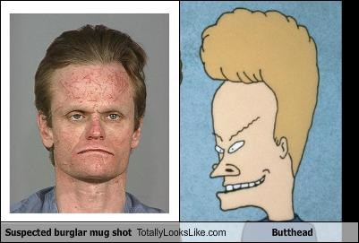 Suspected burglar mug shot Totally Looks Like Butthead