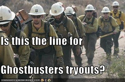 Is this the line for Ghostbusters tryouts?