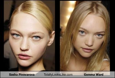 Sasha Pivovarova Totally Looks Like Gemma Ward
