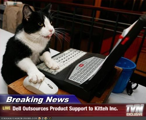Breaking News - Dell Outsources Product Support to Kitteh Inc.