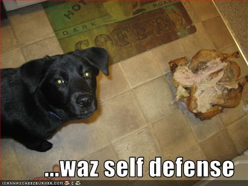 ...waz self defense