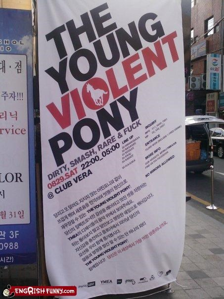 dirty,fck,pony,rare,signs,smash,violent,young