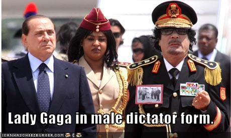 Lady Gaga in male dictator form.