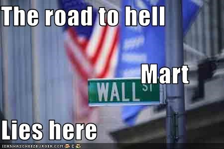 The road to hell                         Mart Lies here