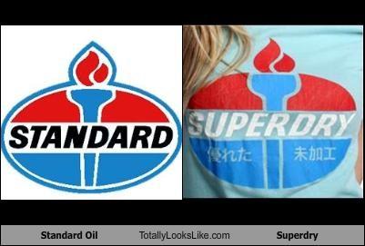logos,standard oil,superdry,torch