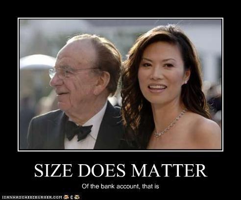 bank account,marriage,money,Rupert Murdoch,size matters