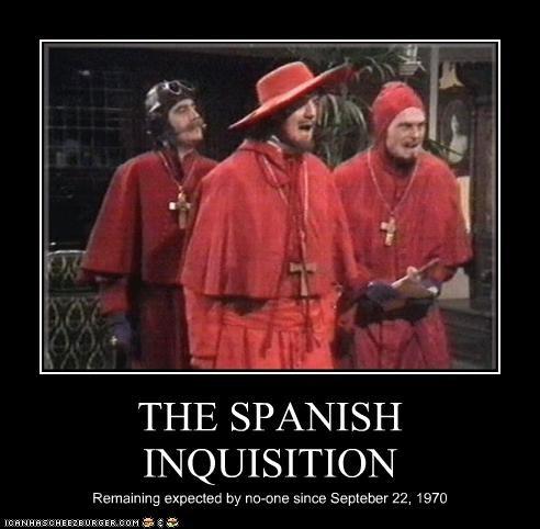 british comedy,classic tv,michael palin,monty python,terry gilliam,Terry Jones,the spanish inquisition