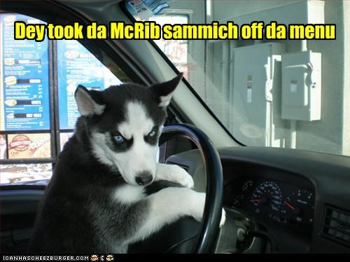 Dey took da McRib sammich off da menu