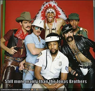 70s,butch,disco,manly,Music,the jonas brothers,village people