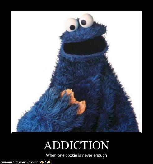 addiction,Cookie Monster,cookies,drugs