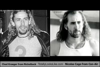 Chad Kroeger from Nickelback Totally Looks Like Nicolas Cage from Con-Air