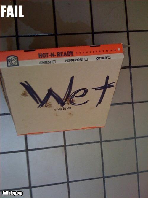 Impromptu Wet Floor Sign Fail