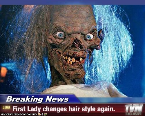 Breaking News - First Lady changes hair style again.