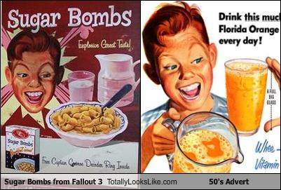 50s,advertising,cereal,fallout 3,video games