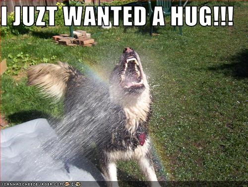 I JUZT WANTED A HUG!!!