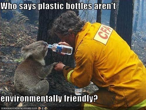 Who says plastic bottles aren't   environmentally friendly?