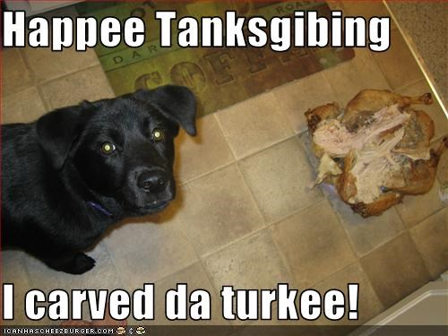 Happee Tanksgibing  I carved da turkee!