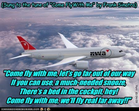 Northwest Airlines new song for their commercials and radio advertisements: