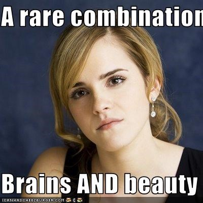 A rare combination  Brains AND beauty