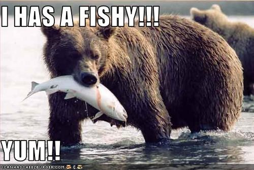 I HAS A FISHY!!!  YUM!!