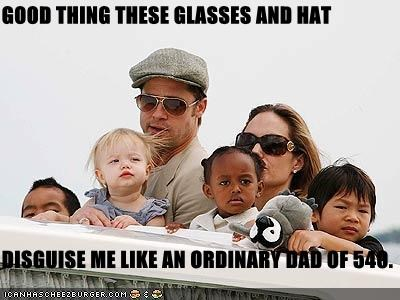 GOOD THING THESE GLASSES AND HAT  DISGUISE ME LIKE AN ORDINARY DAD OF 540.