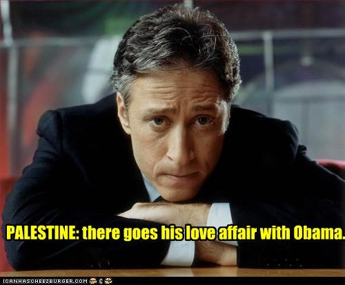 PALESTINE: there goes his love affair with Obama.