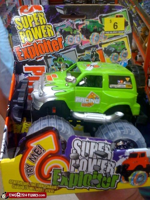 chariot,exploit,g rated,package,power,rival,Super,toys