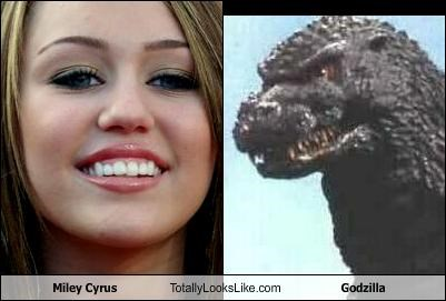 Miley Cyrus Totally Looks Like Godzilla