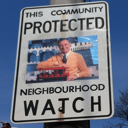 20 Altered Neighborhood Watch Signs Featuring Pop Culture Heroes