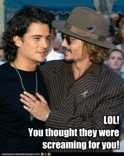 fans,Johnny Depp,orlando bloom,Pirates of the Caribbean,scream