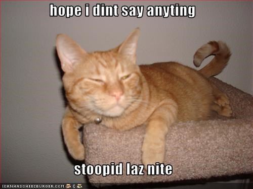 hope i dint say anyting  stoopid laz nite