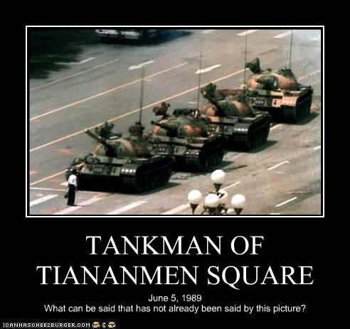 TANKMAN OF TIANANMEN SQUARE