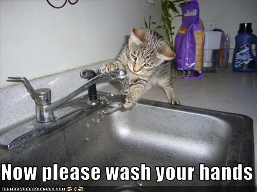 Now please wash your hands