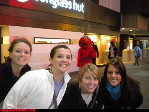 background,creeper,creepy sneakers,elmo,girls,group