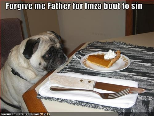 christmas,food,forgiveness,pie,pug,sin,steal,table,thanksgiving