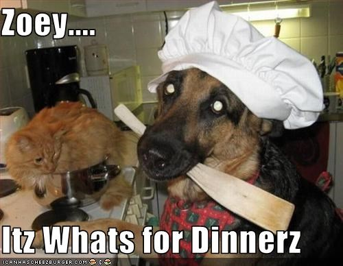 Zoey....  Itz Whats for Dinnerz