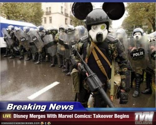 Breaking News - Disney Merges With Marvel Comics: Takeover Begins