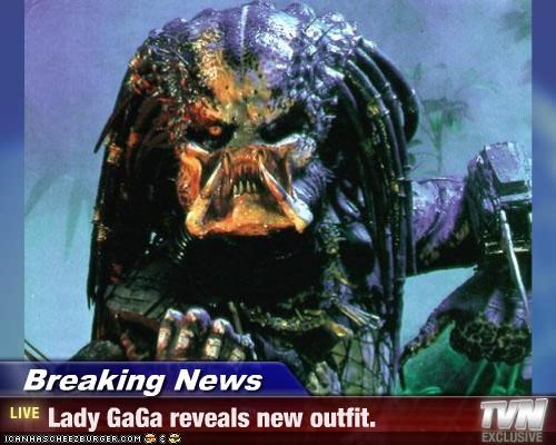 Breaking News - Lady GaGa reveals new outfit.