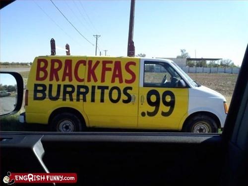 breakfast,burrito,cheap,g rated,truck,van