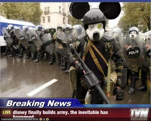 Breaking News - disney finally builds army. the inevitable has happened.