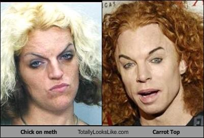 carrot top,chick,comedians,crystal meth,drugs,woman